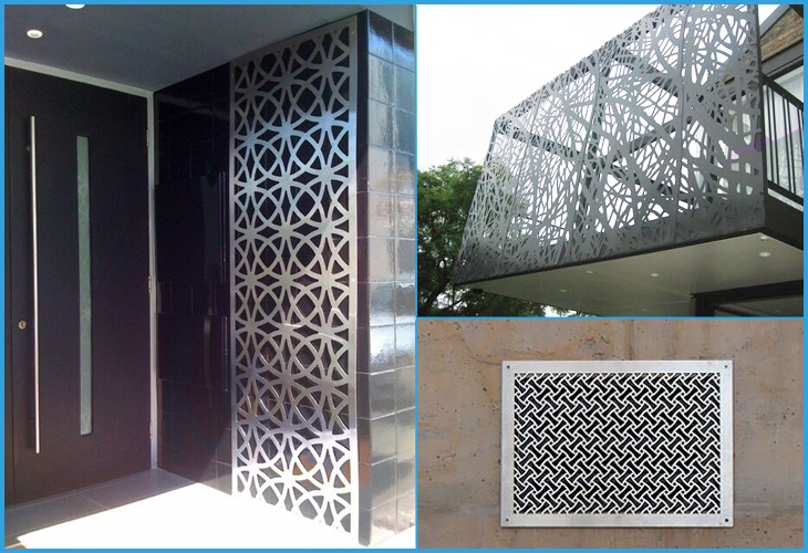 Metal Screen Decorative Wall Panel Laser Cutting